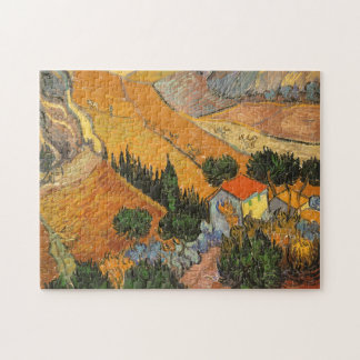 Valley with Ploughman by Vincent van Gogh Jigsaw Puzzle