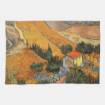 Valley with Ploughman by Vincent van Gogh Hand Towels
