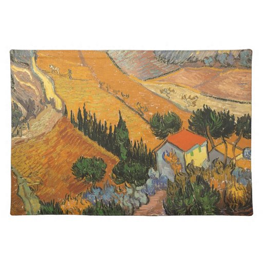 Valley with Ploughman by Vincent van Gogh Placemat