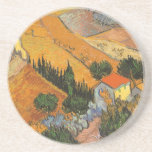 Valley with Ploughman Seen From Above Van Gogh Beverage Coasters