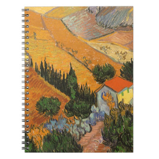 Valley with Ploughman Seen From Above Van Gogh Note Book