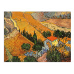Valley with Ploughman Seen From Above Van Gogh Postcard