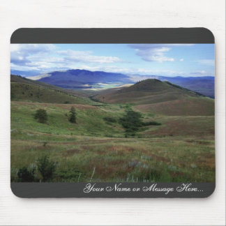 Valleys and mountains in National Bison Range Mouse Pad