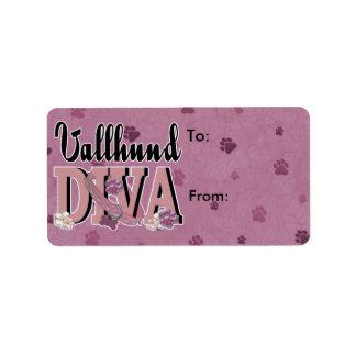 Vallhund DIVA Label