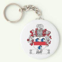 Valli Family Crest Keychain