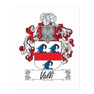 Valli Family Crest Postcard