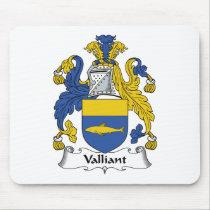 Valliant Family Crest Mousepad