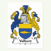 Valliant Family Crest Postcard