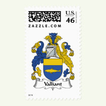 Valliant Family Crest Stamps