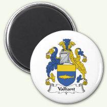 Valliant Family Crest Magnet
