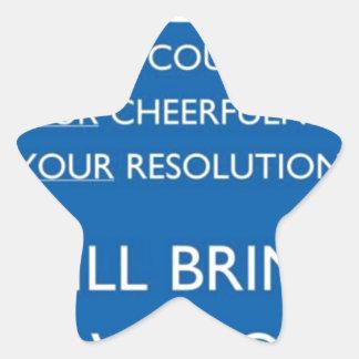 Valor, Cheerfulness, resolución Pegatina En Forma De Estrella