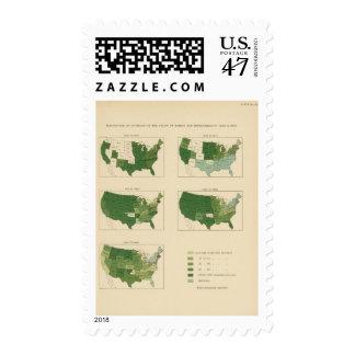 Valor de 133 aumentos de las granjas 1850-1900 sellos