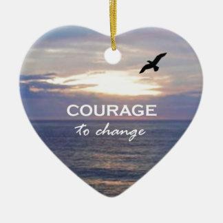 Valor de cambiar adorno de cerámica en forma de corazón