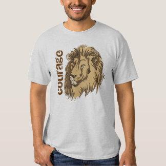 Valor de encargo principal de la camiseta del león playeras