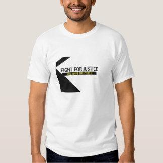 Valor de luchar la camiseta del tamaño extra poleras