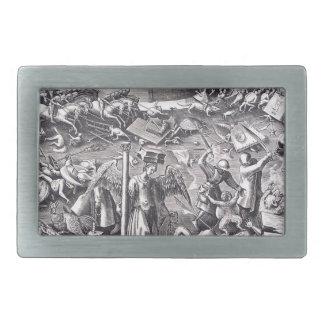 Valor de Pieter Bruegel la anciano Hebilla De Cinturón Rectangular