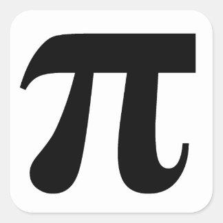 Valor del π del pi del constante matemático del pi pegatina cuadrada