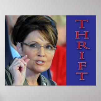 Valor del ahorro; 912 proyecto y Sarah Palin Póster
