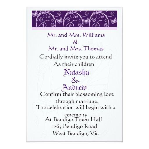 Valor del caballo del boda e invitación del boda invitación 12,7 x 17,8 cm