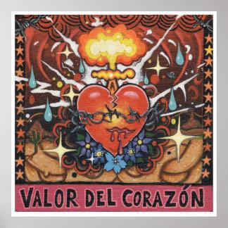 'Valor Del Corazon' art print - (pop surreal art)