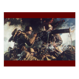 Valor en campo de batalla tarjeta postal