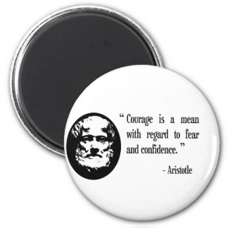 valor, miedo, imán del refrigerador de Aristóteles