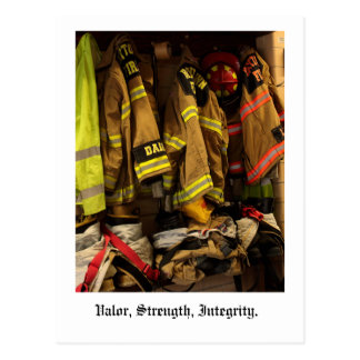 Valor, Strength, Integrity. Postcard