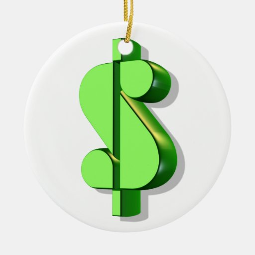 valor y éxito de la muestra de dólar ornaments para arbol de navidad