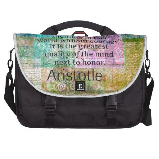 Valor y honor de motivación de la cita de Aristóte Bolsas Para Ordenador