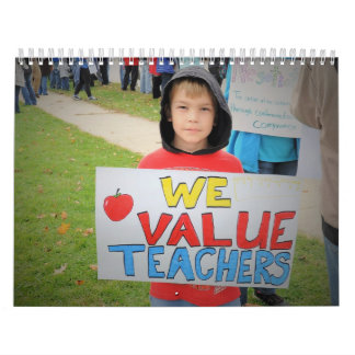 Valoramos a profesores: Jefferson en la huelga Calendarios