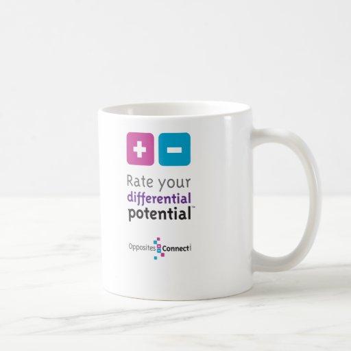Valore su taza de café potencial diferenciada