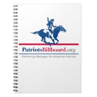 Valores americanos de la ayuda en PatriotsBillboar Libro De Apuntes