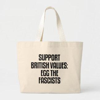 Valores británicos de la ayuda: Egg a los fascista Bolsas
