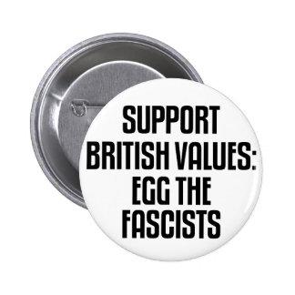 Valores británicos de la ayuda: Egg a los fascista Pin