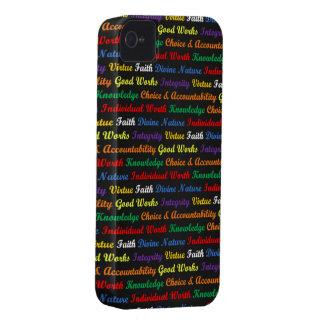 Valores de las mujeres jovenes de LDS, coloreados Case-Mate iPhone 4 Protectores