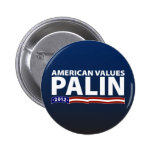 Valores del americano de Sarah Palin Pins