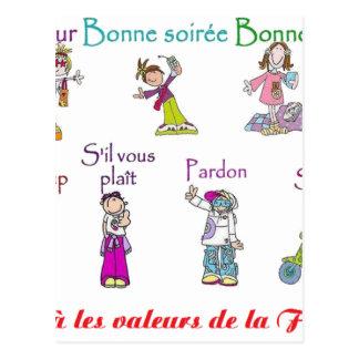 VALORES del FRANCE.png Tarjetas Postales