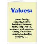 Valores familiares para Democratics Tarjetón