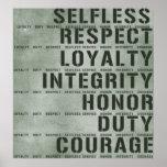 Valores militares impresiones