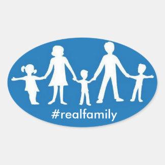 Valores #realfamily ovales del pegatina