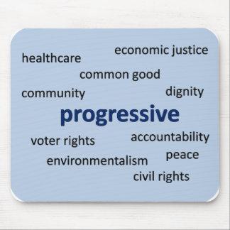Valores y filosofía progresivos tapete de raton