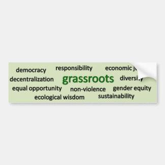 Valores y filosofía verdes pegatina para auto