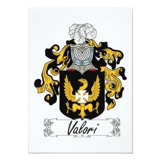 Valori Family Crest 5x7 Paper Invitation Card