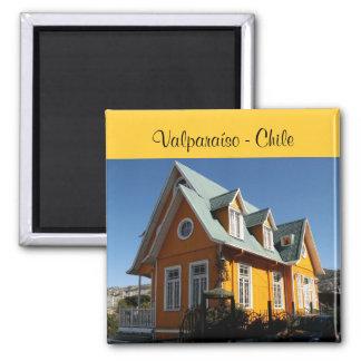 Valparaíso - Chile 2 Inch Square Magnet