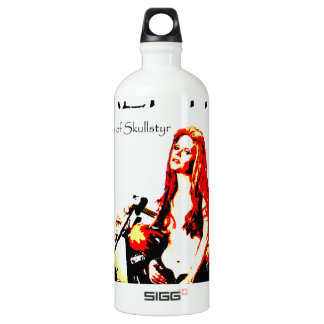 Valpyra & The Grim Reaper Hog by Valpyra Aluminum Water Bottle