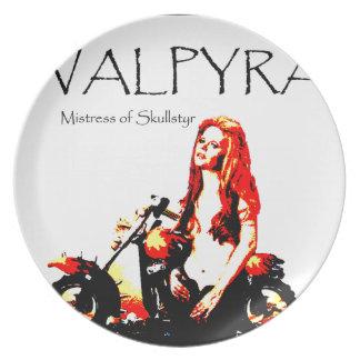 Valpyra & The Grim Reaper Hog by Valpyra Melamine Plate