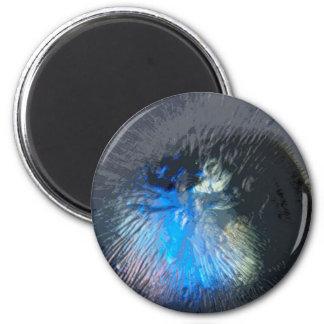 Vals azul imán redondo 5 cm