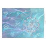 Vals de la tarjeta de los copos de nieve