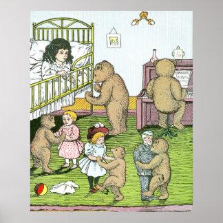 Vals de los osos de peluche con las muñecas posters