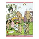 Vals de los osos de peluche con las muñecas tarjetas postales